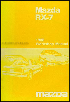 1988 Mazda RX-7 Repair Manual Original