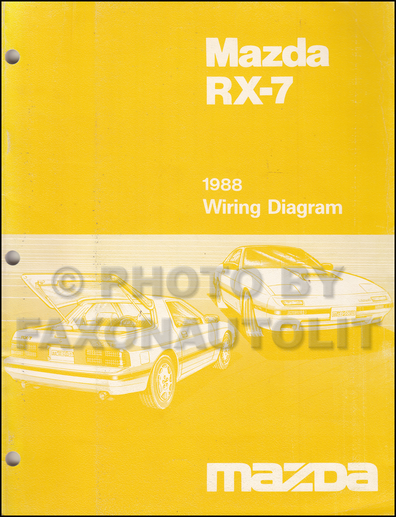 1988 Mazda RX-7 Wiring Diagram Manual Original RX7