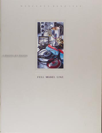 1988 Mercedes Original Sales Brochure 88 190/260/300/420/560