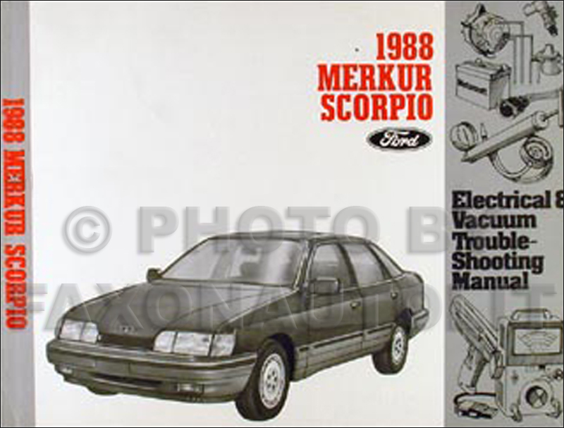 1988 Merkur Scorpio Electrical and Vacuum Troubleshooting Manual