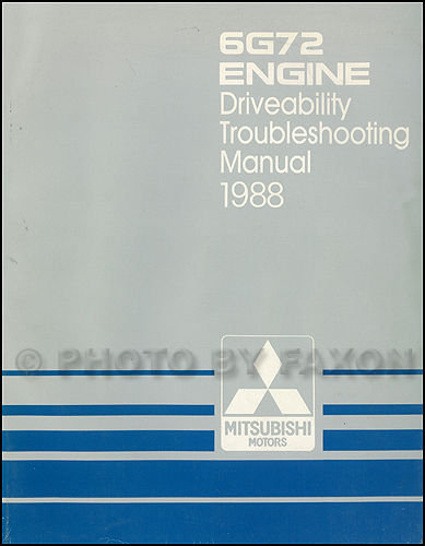 1988 Mitsubishi Galant 6G72 Engine Driveability Troubleshooting Manual Original