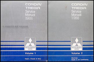 1988 Mitsubishi Cordia/Tredia Repair Manual Set Original