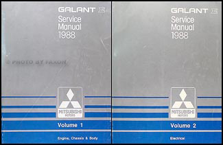 1988 Mitsubishi Galant Repair Manual Set Original