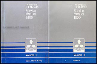 1988 Mitsubishi Truck Repair Manual Set Original