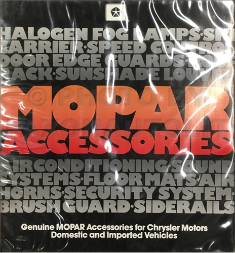 1988 Mopar Accessories Data Book Original