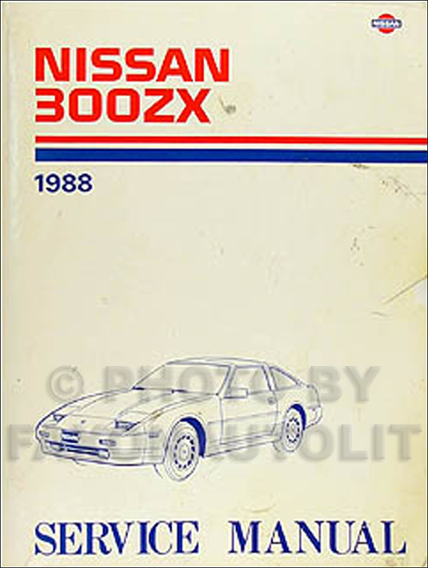 1988 Nissan 300ZX Repair Shop Manual Original