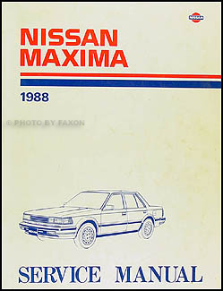 1988 Nissan Maxima Repair Manual Original
