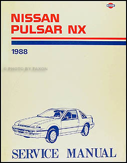 1988 Nissan Pulsar NX Repair Manual Original