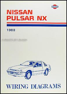 1988 Nissan Pulsar NX Wiring Diagram Manual Original