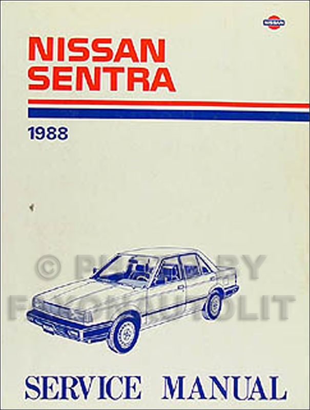 1988 Nissan Stanza Sedan Repair Manual Original
