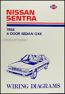1988 Nissan Stanza Sedan Wiring Diagram Manual Original
