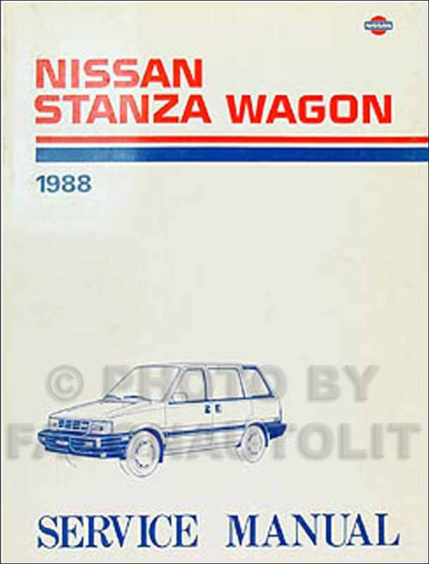 1988 Nissan Stanza Wagon Repair Manual Original