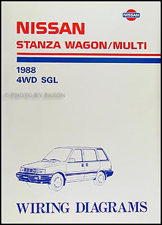 1988 Nissan Stanza Wagon/Multi Wiring Diagram Manual Original