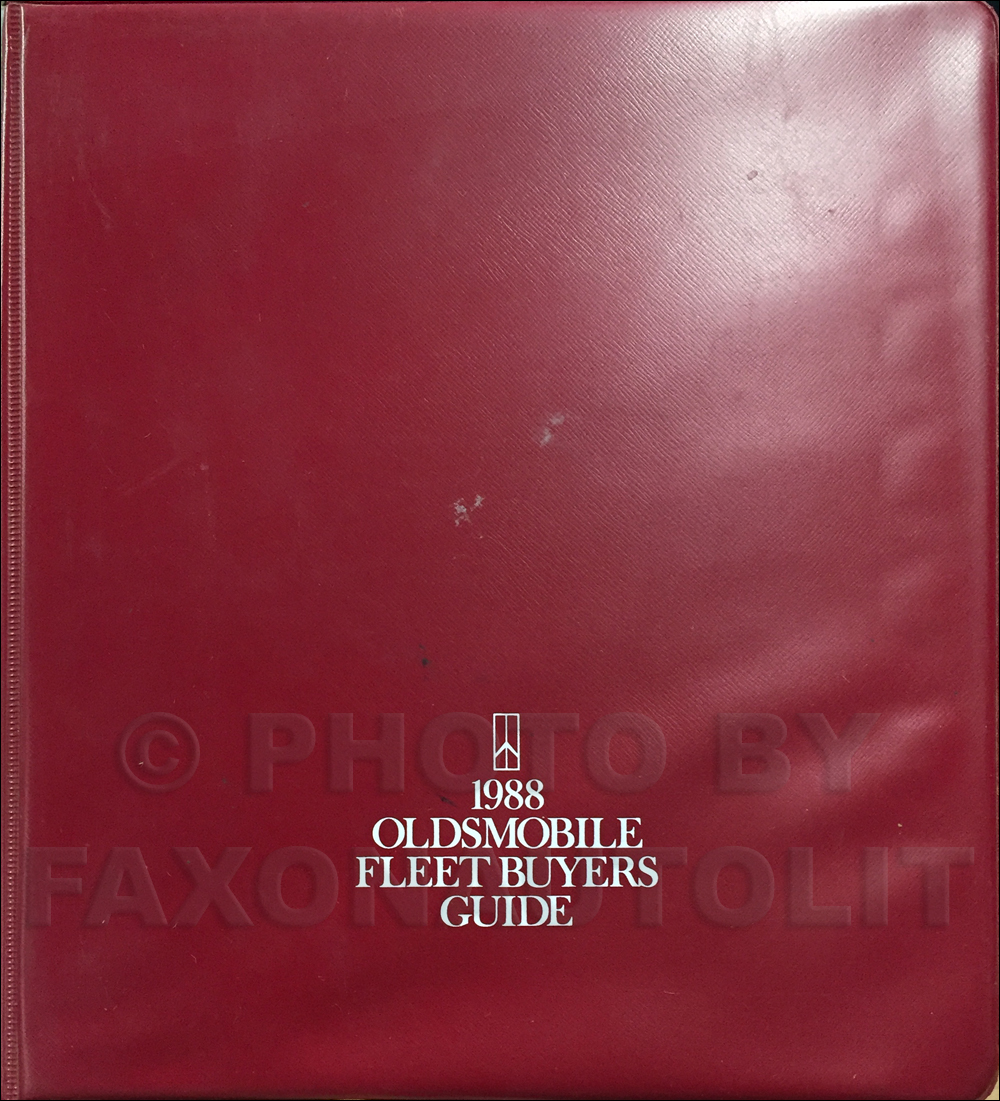 1988 Oldsmobile Fleet Buyers Guide Original
