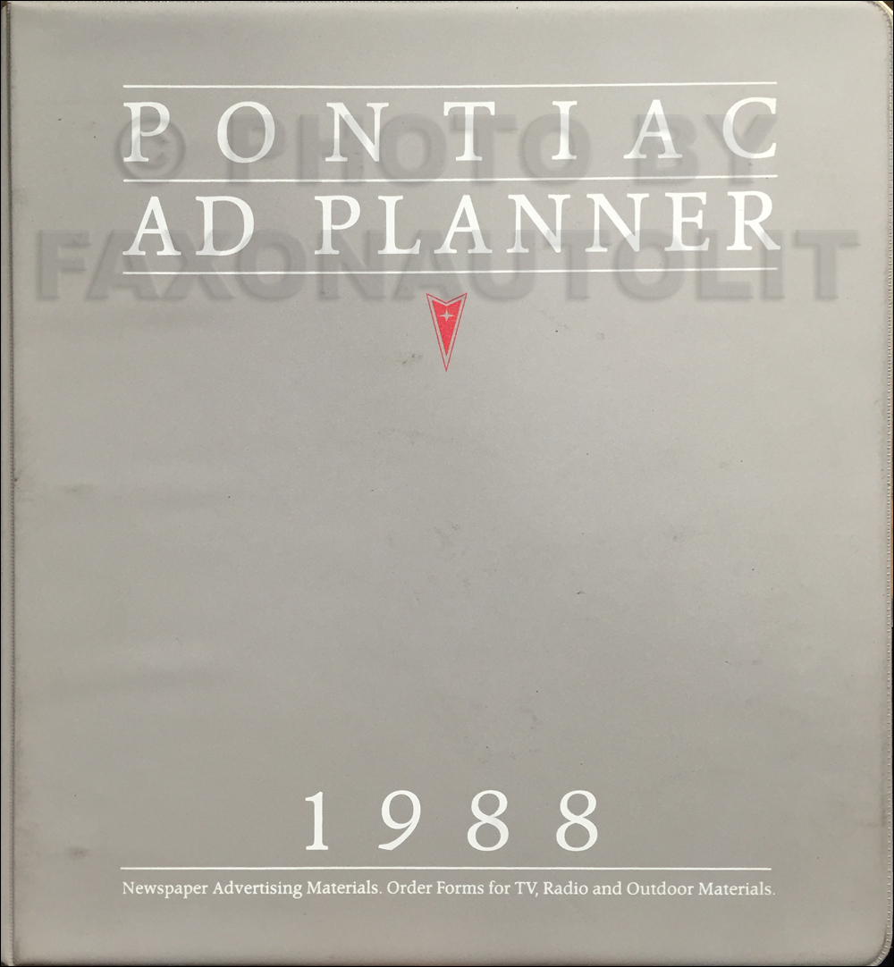1988 Pontiac Dealer Advertising Planner Original