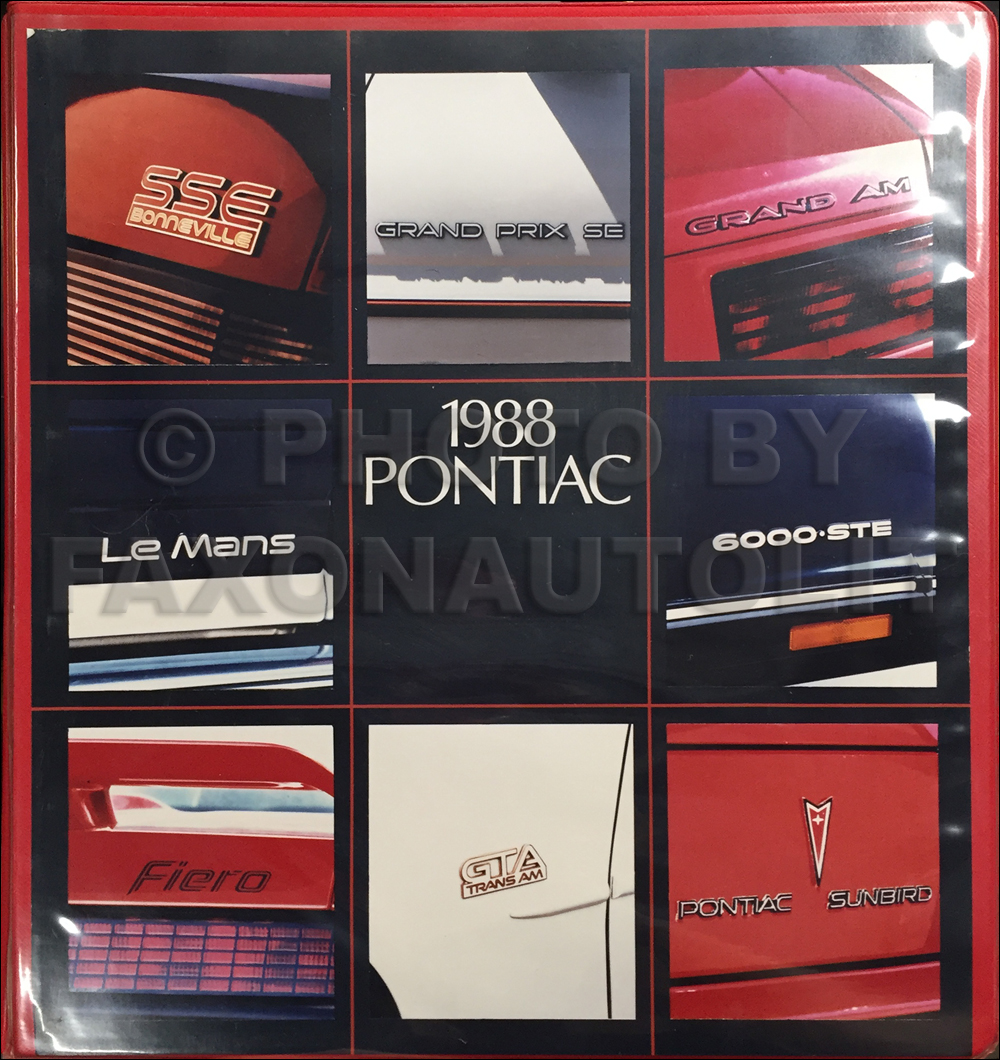 1988 Pontiac Advance Press Kit Original