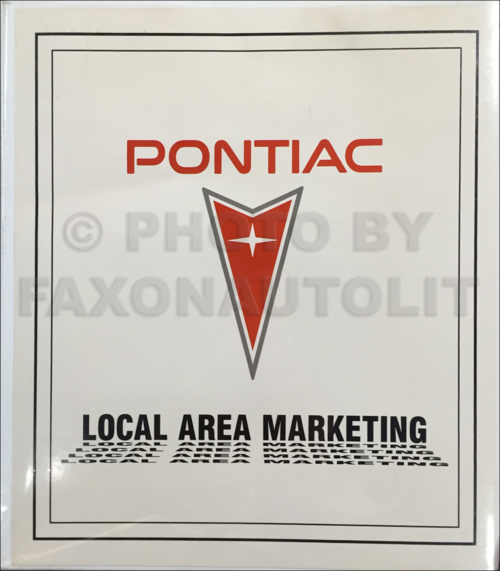 1989 Pontiac Local Dealer Marketing Planner Original