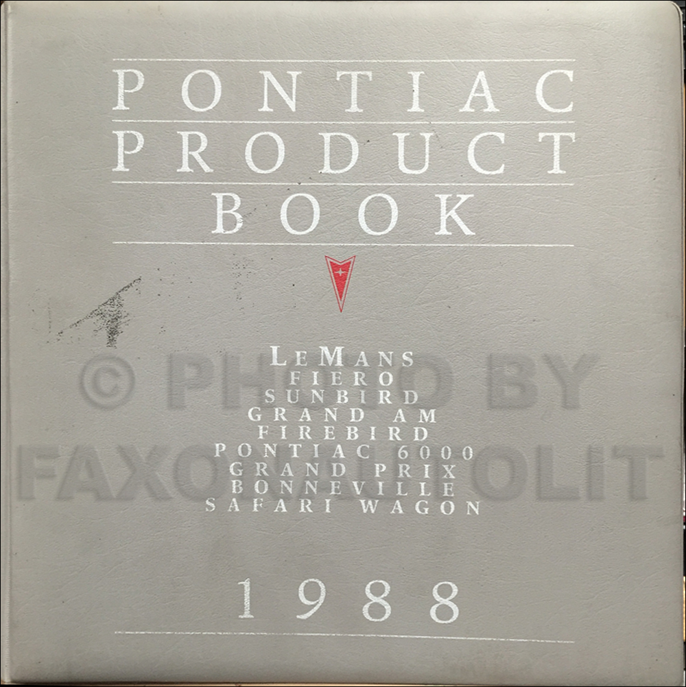 1988 Pontiac Product Data Book Dealer Album Original