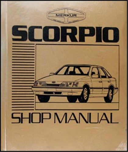 1988-1989 Merkur Scorpio Repair Manual Original
