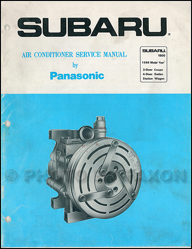 1988 Subaru 1800 Air Conditioner Service Manual Original