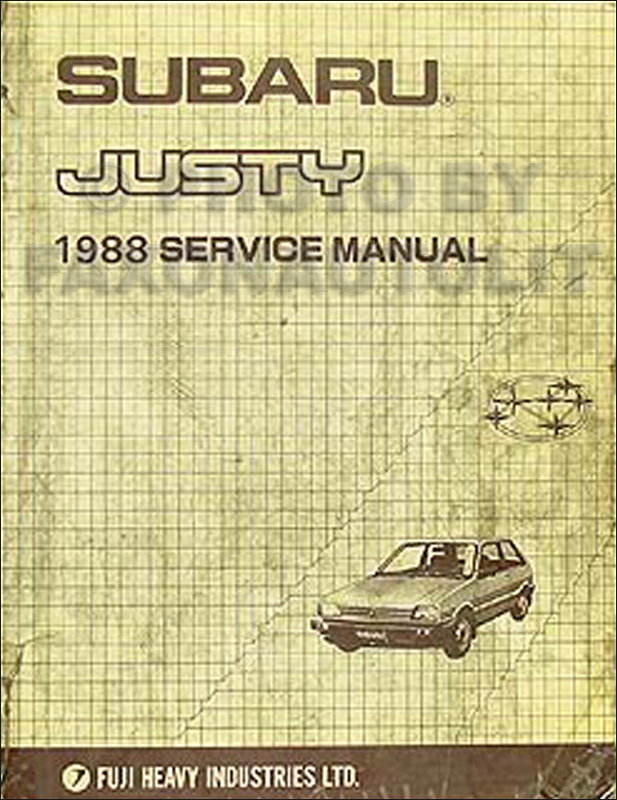 1988 Subaru Justy Repair Manual Original