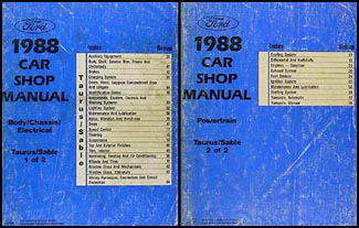 1988 Taurus & Sable Repair Manual Original 2 Volume Set