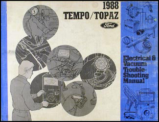 1988 Tempo Topaz Electrical and Vacuum Troubleshooting Manual Original