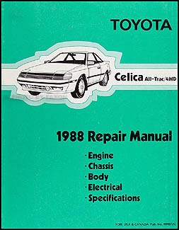 1988 Toyota Celica All-Trac 4WD Repair Manual Original