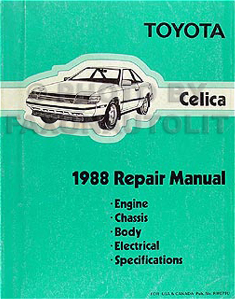 1988 Toyota Celica Repair Manual Original