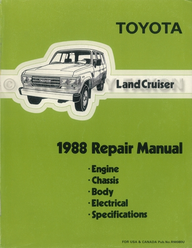 1989 Toyota Land Cruiser Repair Manual Original