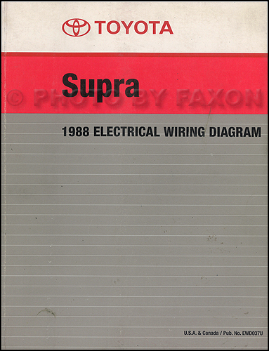 1988 toyota supra wiring diagram manual factory reprint1989 Toyota Supra Wiring Diagram Manual Original #11