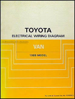 1988 Toyota Van Wiring Diagram Manual Original