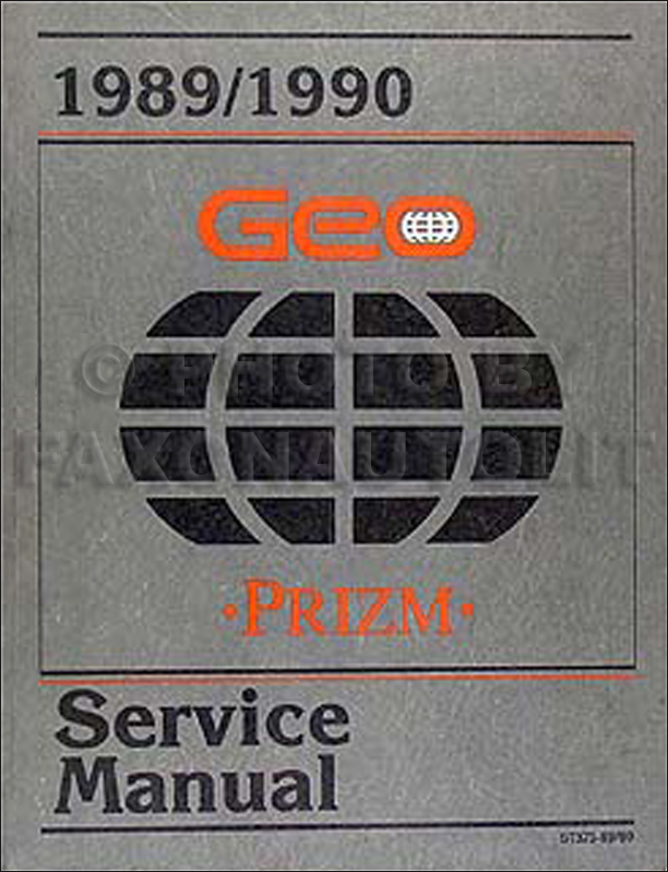 1989-1990 Geo Prizm Repair Manual Original