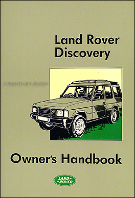 1989-1990 Land Rover Discovery Owner's Manual Reprint