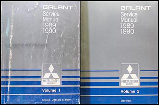 1989-1990 Mitsubishi Galant Repair Manual Set Original