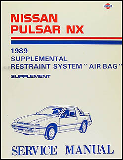 1989 Nissan Pulsar NX Air Bag Repair Manual Original Supplement