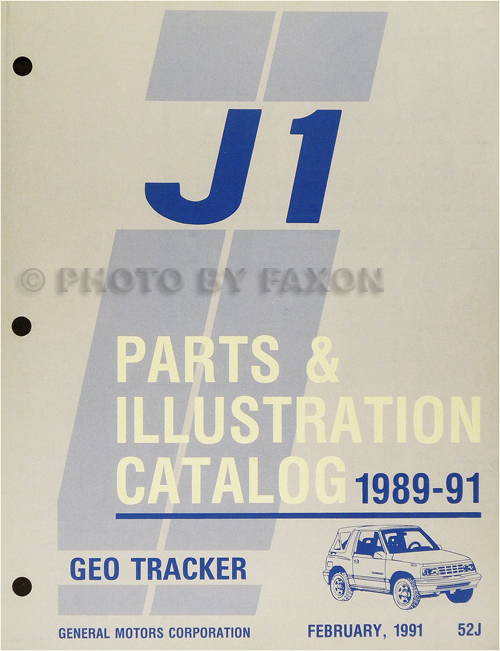 1989-1991 Chevrolet Geo Tracker Parts Book Original