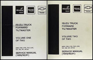 1989-1991 NRR, FSR, FTR, FVR, EVR, W5-W7 Repair Shop Manual Factory Reprint