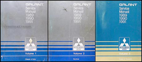 1989-1991 Mitsubishi Galant Repair Manual Set Original