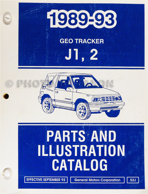 1989-1993 Chevrolet Geo Tracker Parts Book Original