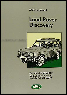1989-1994 Land Rover Discovery Repair Manual Reprint