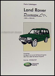 1989-1998 Land Rover Discovery Parts Book Reprint