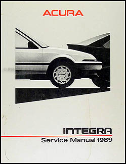 1989 Acura Integra Shop Manual Original