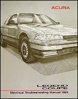 1989 Acura Legend Coupe Electrical Troubleshooting Manual Original