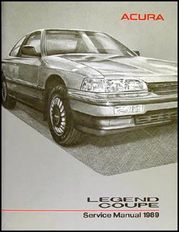 1989 Acura Legend Coupe Shop Manual Original