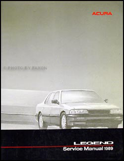 1989 Acura Legend Sedan Shop Manual Original