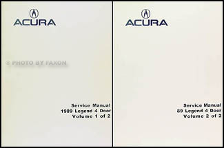 1989 Acura Legend 4 Door Shop Manual Reprint 2 Volume Set