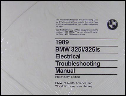 1989 BMW 325i/325is Electrical Troubleshooting Manual
