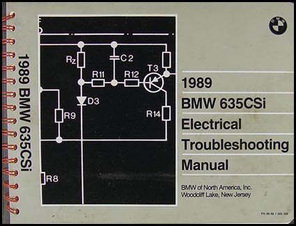 1989 BMW 635CSi Electrical Troubleshooting Manual