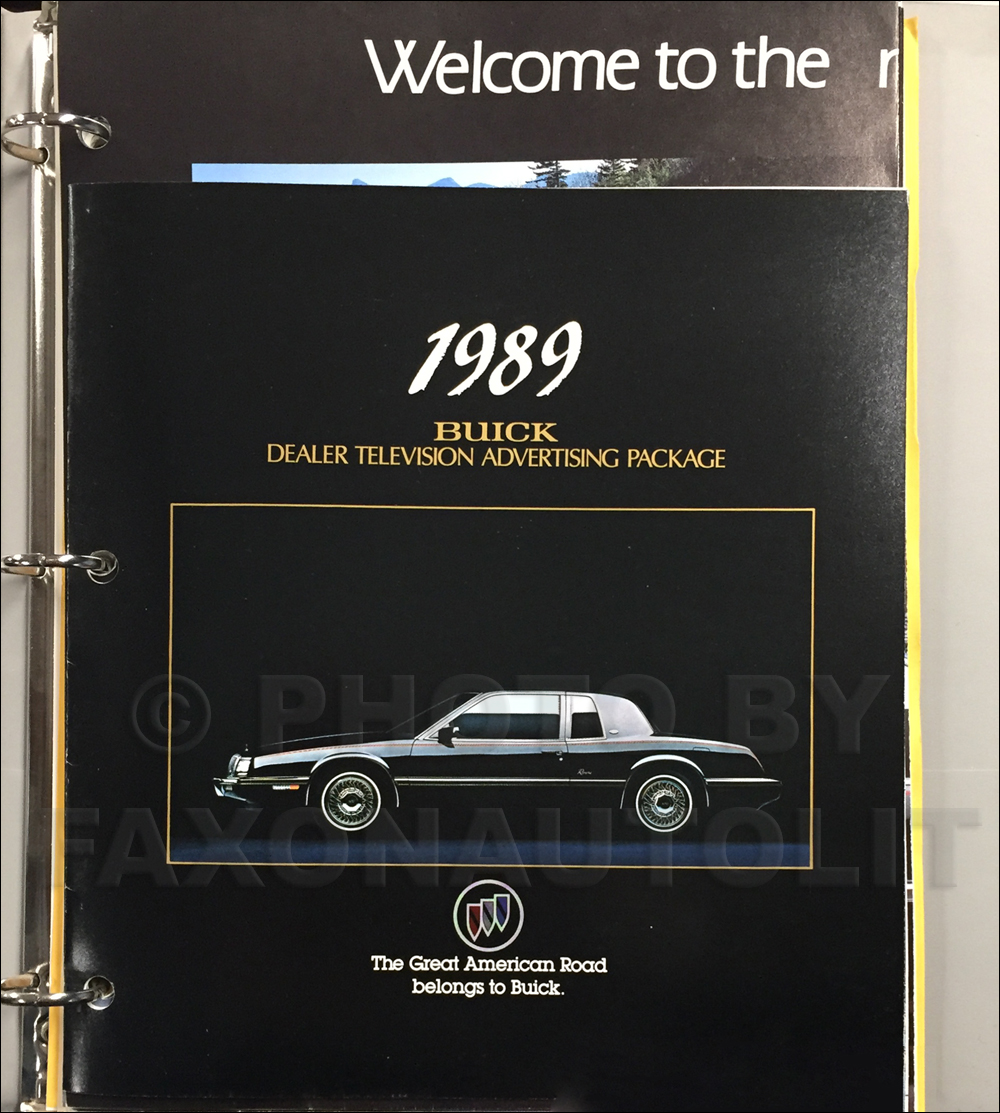 1989 Buick Dealer Advertising Planner Original